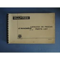 EL MONTADERO MOD. 51 ( 1969 ) CATALOGO DE PIEZAS ( ORIGINAL )